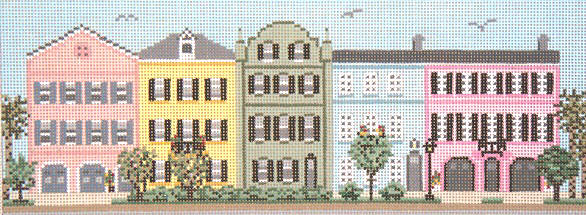 click here to view larger image of Row Houses - Charleston, SC (hand painted canvases)