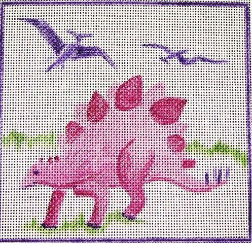 click here to view larger image of Pink Dinosaur  (hand painted canvases)