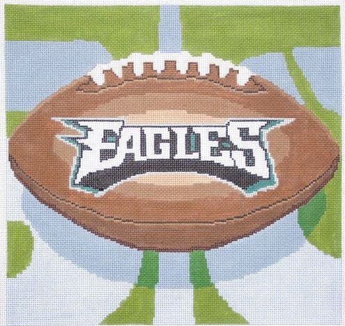 click here to view larger image of Philadelphia Eagles Football (hand painted canvases)