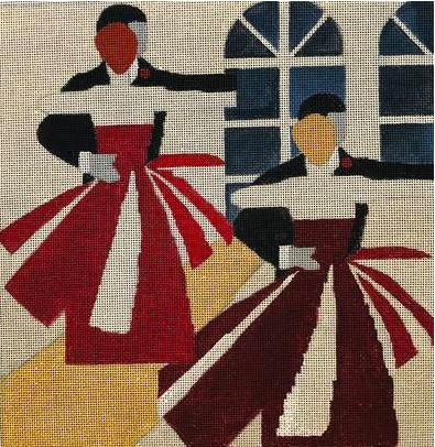 click here to view larger image of Ballroom Dancing (hand painted canvases)