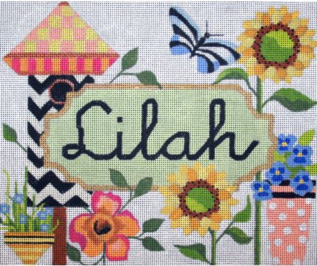 click here to view larger image of Little Girl Name (Personalized)  (hand painted canvases)