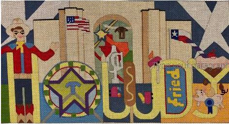 click here to view larger image of HOWDY!  Texas State Fair (hand painted canvases)
