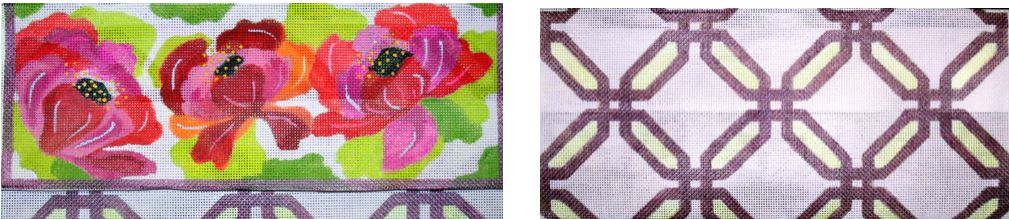 click here to view larger image of Floral Folded Clutch (hand painted canvases)