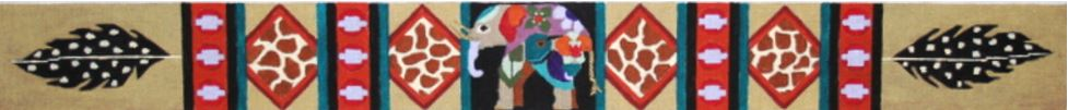 click here to view larger image of African Elephant Belt  (hand painted canvases)