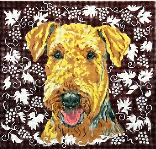click here to view larger image of Airedale II (hand painted canvases)