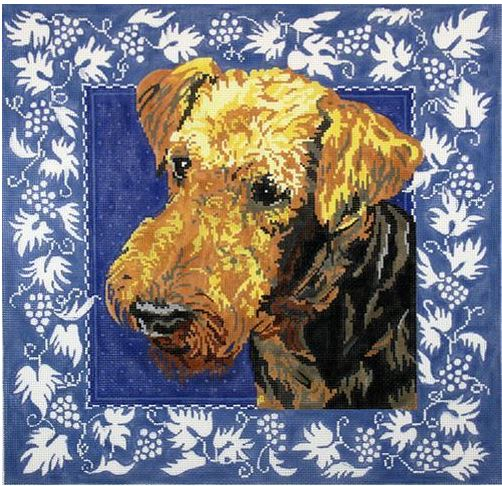 click here to view larger image of Airedale (hand painted canvases)