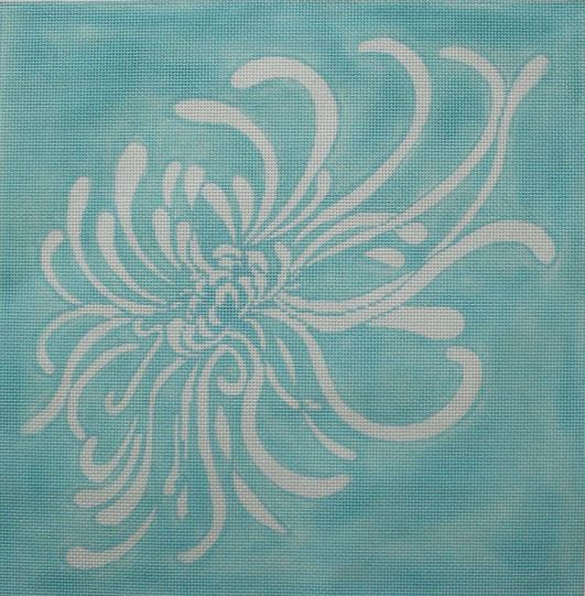 click here to view larger image of Barbara's Mum - Blue Background (hand painted canvases)