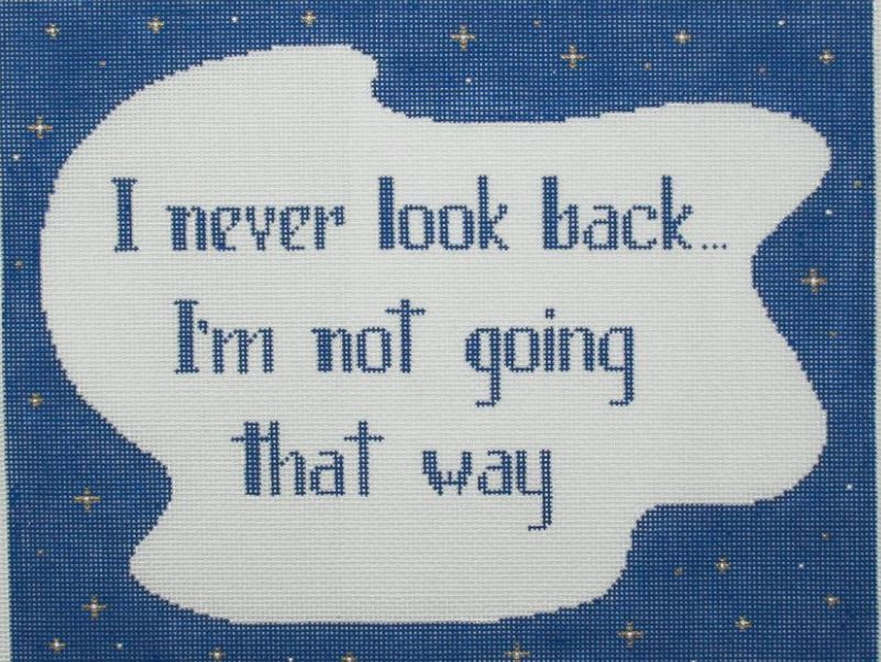 click here to view larger image of I Never Look Back (hand painted canvases)