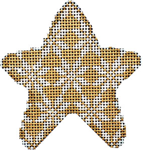 click here to view larger image of Gold Nordic Snowflake Mini Star (hand painted canvases)