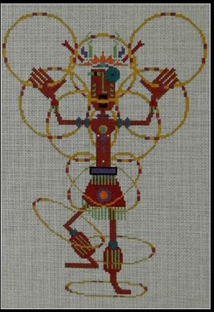 click here to view larger image of Hoop Dancer Kachino - White 13M (hand painted canvases)