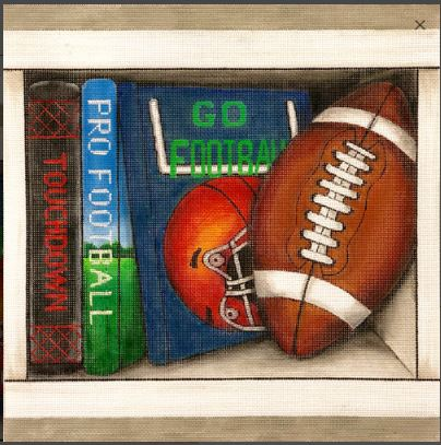 click here to view larger image of Football Book Nook (hand painted canvases)