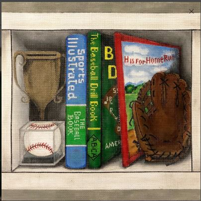 click here to view larger image of Baseball Book Nook (hand painted canvases)