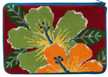 click here to view larger image of Bright Hibiscus - Stitch & Zip   (hand painted canvases)