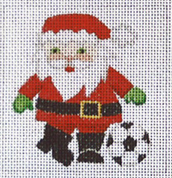 click here to view larger image of Soccer Santa  (hand painted canvases)