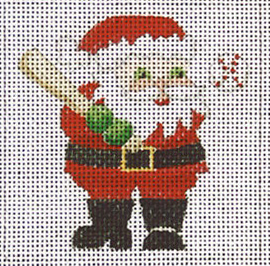click here to view larger image of Baseball Santa  (hand painted canvases)