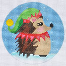 click here to view larger image of Elf Hedgehog Ornament (hand painted canvases)