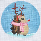click here to view larger image of Reindeer Hedgehog Ornament (hand painted canvases)