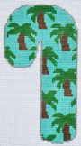 click here to view larger image of Palm Trees Candy Cane  (hand painted canvases)