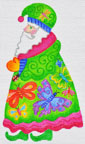 click here to view larger image of Butterfly Santa  (hand painted canvases)