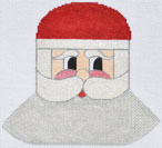 click here to view larger image of Silver Bell Santa   (hand painted canvases)