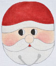 click here to view larger image of Jimgle Bell Santa   (hand painted canvases)