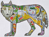 click here to view larger image of Standing Wolf  (hand painted canvases)