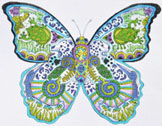 click here to view larger image of Blue Morpho Butterfly (hand painted canvases)