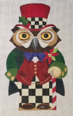 click here to view larger image of Christmas Owl (hand painted canvases)