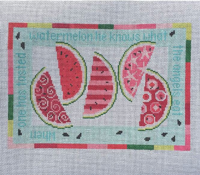 Watermelon Wedges hand painted canvases