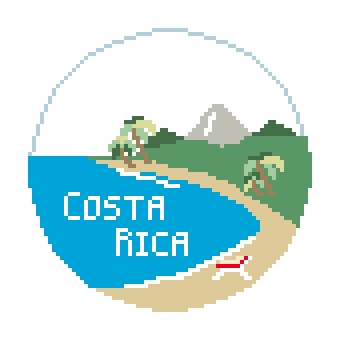 click here to view larger image of Costa Rica (hand painted canvases)