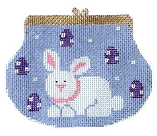 click here to view larger image of Bunny Purse with Stitch Guide (hand painted canvases)