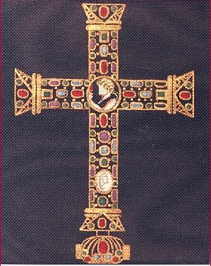 click here to view larger image of Cross of Lothar (hand painted canvases)