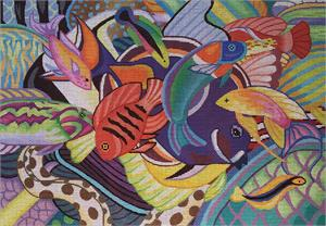click here to view larger image of Hawaiian Fish (hand painted canvases)