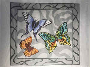 click here to view larger image of Butterflies (hand painted canvases)