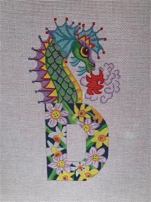 click here to view larger image of D for Dragons and Daffodils (hand painted canvases)
