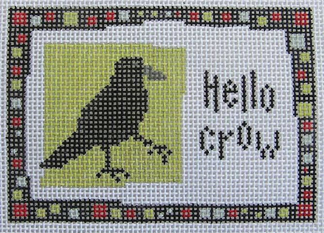click here to view larger image of Hello Crow (hand painted canvases)
