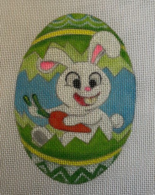 click here to view larger image of Bunny - Lime (hand painted canvases)