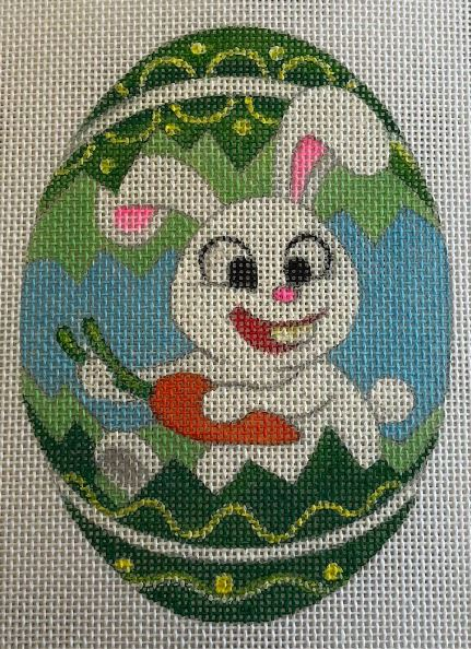 click here to view larger image of Bunny - Green (hand painted canvases)