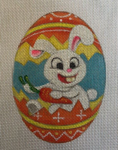 click here to view larger image of Bunny - Orange (hand painted canvases)