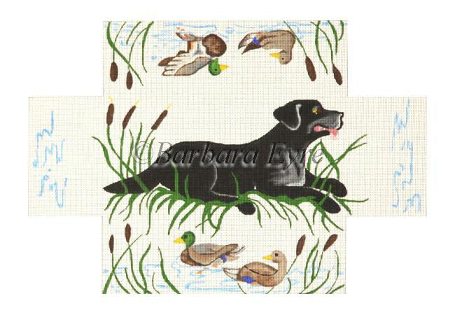 click here to view larger image of Black Lab Brick Cover (hand painted canvases)