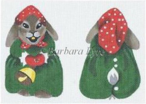 click here to view larger image of Bell Ringer Bunny Ornament (hand painted canvases)