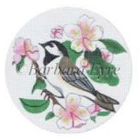 click here to view larger image of Chickadee In Apple Blossom (hand painted canvases)