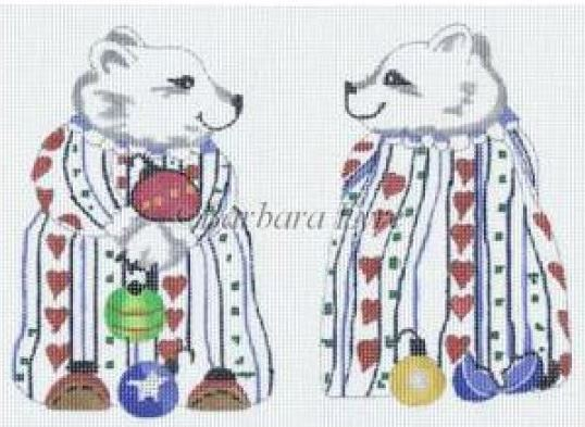 click here to view larger image of Polar Bear Ornament (hand painted canvases)