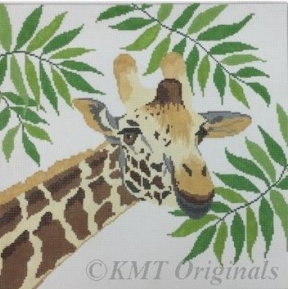 click here to view larger image of Giraffe in Ferns (hand painted canvases)