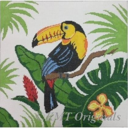click here to view larger image of Tucan in Leaves (hand painted canvases)