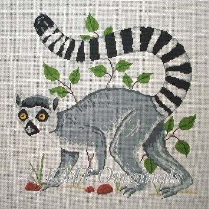 click here to view larger image of Ringed Tail Lemur (hand painted canvases)