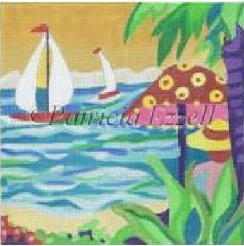 click here to view larger image of Peaceful Sail  (hand painted canvases)