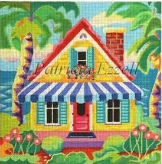 click here to view larger image of Yellow Beach Cottage (hand painted canvases)