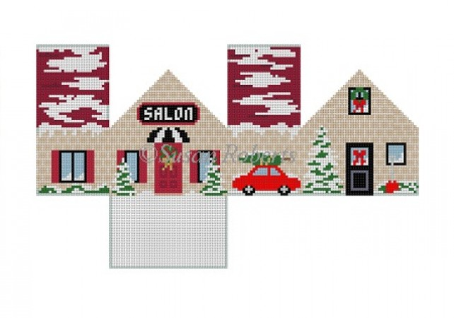 click here to view larger image of Salon Mini House (hand painted canvases)