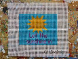 click here to view larger image of Let the Sunshine In (hand painted canvases)